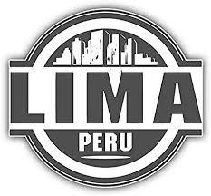 Amazon Com Kw Vinyl Lima Peru Skyline Label Truck Car Window Bumper Sticker Decal 5 Automotive