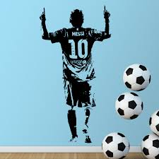 Hot Promo Bc98 New Design Lionel Messi Figure Wall Sticker Vinyl Diy Home Decor Football Star Decals Soccer Athlete For Kids Room Cicig Co