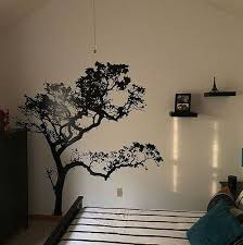 Put Up This Awesome Stickerbrand Tree Decal And Ikea Shelves On The Big Wall In My Bedroom Love It Wall Decals For Bedroom Awesome Bedrooms Tree Wall Decal