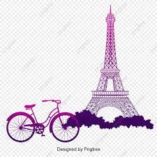 برج الوردي تحت ناقلات الدراجة سلال الزهور بناء برج Png وملف Psd