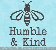 Bee Wall Decor Sticker Be Humble Kind Quote Vinyl Decal Art Decoration