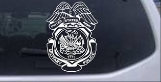 Military Police Badge United States Army Car Or Truck Window Decal Sticker Rad Dezigns