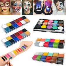 camouflage 3 color pact face paint