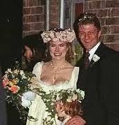 Sean Bean's 3rd bride Abigail Cruttenden, whom he met while filming Sharpe.  | Celebrity weddings, Wedding couples, Wedding memorial