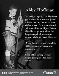 Abby Hoffman In 1955, at age eight, Ab... - Library and Archives Canada |  Facebook