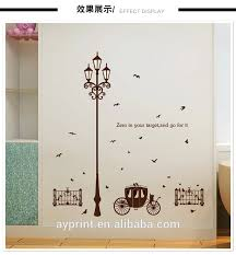 Sk9204 Street Lamp Carriage Fencing Birds Wall Sticker Creativity Diy Home Bedroom Tv Background Hallway Wall Decal View Home Decor Lamp Ayyy Product Details From Zhejiang Shenao Technology Co Ltd On Alibaba Com