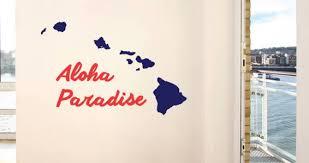 Personalizades Hawaiian Islands Wall Decals Dezign With A Z