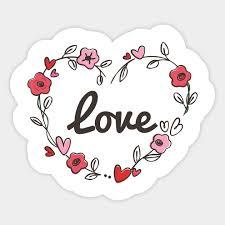 cute love flowery flowers love heart