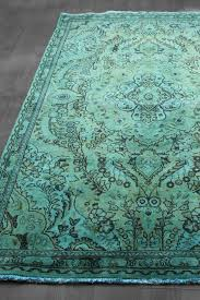 wool rug teal blue green