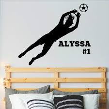 Amazon Com Personalized Girls Soccer Goalie Wall Decal Girl Soccer Room Decor Over 30 Colors Several Sizes Handmade