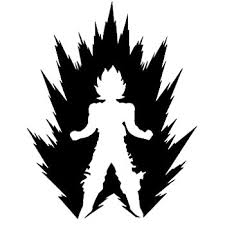 Amazon Com Dragon Ball Z 6 Majin Vegeta M Decal Sticker For Cars Laptops Tablets Skateboard White Computers Accessories
