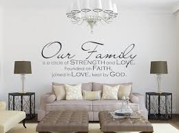 Family Wall Decal Our Family Family Quote Family Wall Sign Vinyl Wall Decal Christian Wall D Wall Vinyl Decor Wall Decor Decals Inspirational Wall Decor