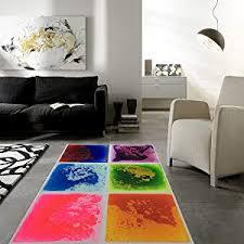Amazon Com Art3d Fancy Floor Tile For Kids Room Liquid Encased Floor Tile 12 X 12 Purple Home Kitchen