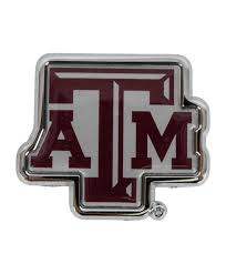 Texas A M Aggies Maroon Atm Metal Car Decal The Warehouse At C C Creations