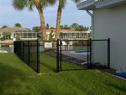 Black Vinyl Coated Chain Link Fence Installation Reddish Home Ideas