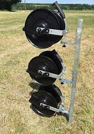 Electric Fence Reel Kit Mounting Post 3 X Geared Fencing Reels With Brackets Ebay