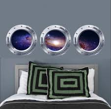 Galaxy Wall Decal Galaxy Portholes Set Of 3 Decals Space Decals Vinyl Wall Stickers Vinyl Graphics Bedroom Decor Galaxy Decals Decal