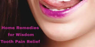 home remes wisdom tooth pain relief
