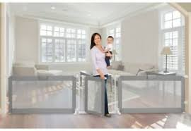 Baby Safety Gate Grey Mesh Fabric Fence Child Infant Toddler Protection Barrier Ebay