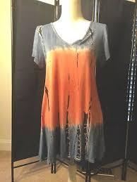 Ava James Scoop Neck Tie Dye Top Blue & Pink Sz S | eBay