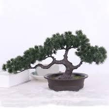artificial plants bonsai pine tree