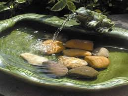 small patio water fountains powered