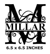 Letter M Name Monogram Vinyl Decal Sticker For 8 Glass Block Diy Crafts Custom Ebay