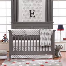 elephants and polka dot crib bedding