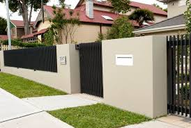 Modern Wall Fence Design Dazzling Modern Front Fence Design With Induced Info