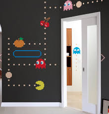 Pacman Ms Pacman Wall Decals Make Your Own Arcade Themed Room Game Room Design Game Room Decor Game Room