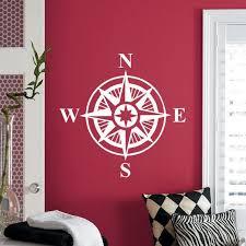 Compass Rose Wall Decal Art Decor Sticker Vinyl Nautical Etsy