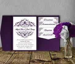 purple wedding invitation template kit