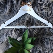Hot Deal 0b54ad Bride Groom 2cm Height Vinyl Sticker For Wood Bridal Hanger Wedding Party Decals Wedding Hanger Cicig Co
