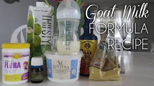organic goat milk formula recipe