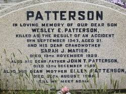 Wesley Patterson (1926-1947) - Find A Grave Memorial