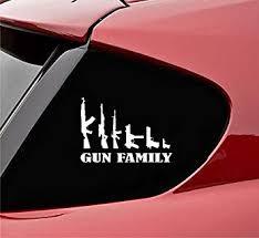 Amazon Com Slap Art Gun Family Ak47 Rifle Ar15 Pistol Vinyl Decal Bumper Sticker Automotive
