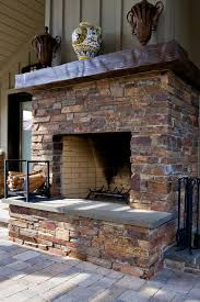 outdoor masonry fireplace traditional