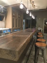 Live Edge Cedar Bar Top Of 15 Long X 5 Thick And 28 Deep I Produced The Finish Utilizing A Mix Of Natural E Live Edge Countertop Wood Bar Top Live Edge