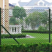 Amazon Com Festnight Garden Fence Chain Link Fence With Posts Privacy Screen Fence Galvanised Steel 3 3 X 82 Green Garden Outdoor