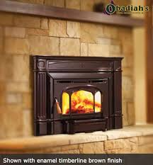 wood insert home improvement fireplace