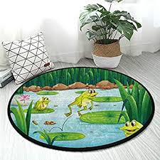 Amazon Com 18 25 Child Cartoon Lovely Frog Carpet Soft Smooth Absorbent Living Creative Home Carpet Door Mat Bedroom Decoration Non Slip Bath Rug Garden Outdoor