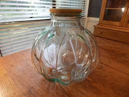 glass apothecary jar cork lid 42 inch