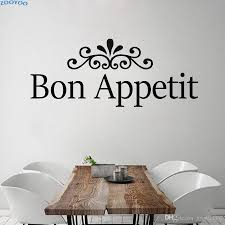 Bon Appetit Creative Wall Sticker French Text Home Decor Dining Room Decoration Removable Wall Decals Art Murals Nursery Wall Sticker Nursery Wall Stickers From Joystickers 8 96 Dhgate Com