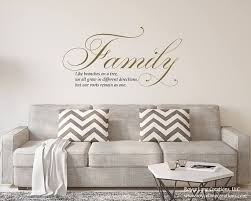 Like Branches On A Tree Decal Family Like Branches On A Tree Etsy Tree Decals Living Room Decals Family Room Walls