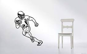 Amazon Com Nfl American Football Player Wall Stickers Graphic Vinyl Removable Rugby Football Wall Decals Sport Wall Art For Boys Girls Bedroom Playroom Nursery Living Room Home Wall Sticker Decal Decor Sx62 Home