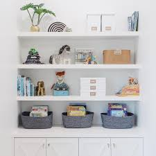 Organized Playroom Shelves Playroom Shelves Modern Kids Playroom Kids Shelves