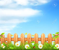 Spring Background Grass And Wooden Fence Royalty Free Cliparts Vectors And Stock Illustration Image 19438829