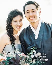Exclusive: The Walking Dead's Steven Yeun and Joana Pak's California  Wedding | Martha Stewart
