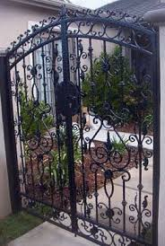 Decorative Wrought Iron Entry Gate Fabricated And Designed By Pete S Welding San Marcos Ca Garden Gates And Fencing Outdoor Gate Custom Iron Gates