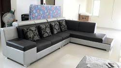 leather black and red corner sofa set